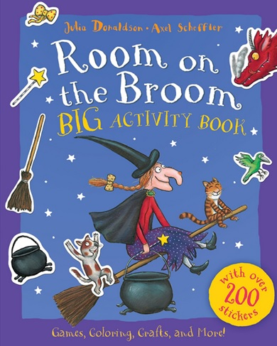 Room on the Broom by Julia Donaldson Activities Book with Coloring, games and crafts