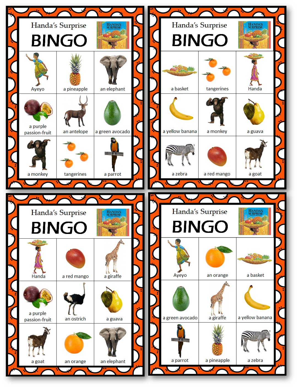Bingo Game Handa's Surprise