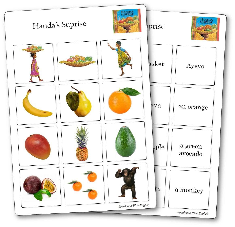 Memory Game Handa's Surprise, Handa's Surprise Printable