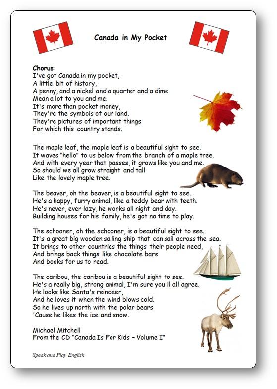 I've got Canada in my Pocket Lyrics by Michael Mitchell