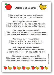 Apples and Bananas Song Lyrics