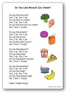 Do You Like Broccoli Ice Cream Lyrics Song