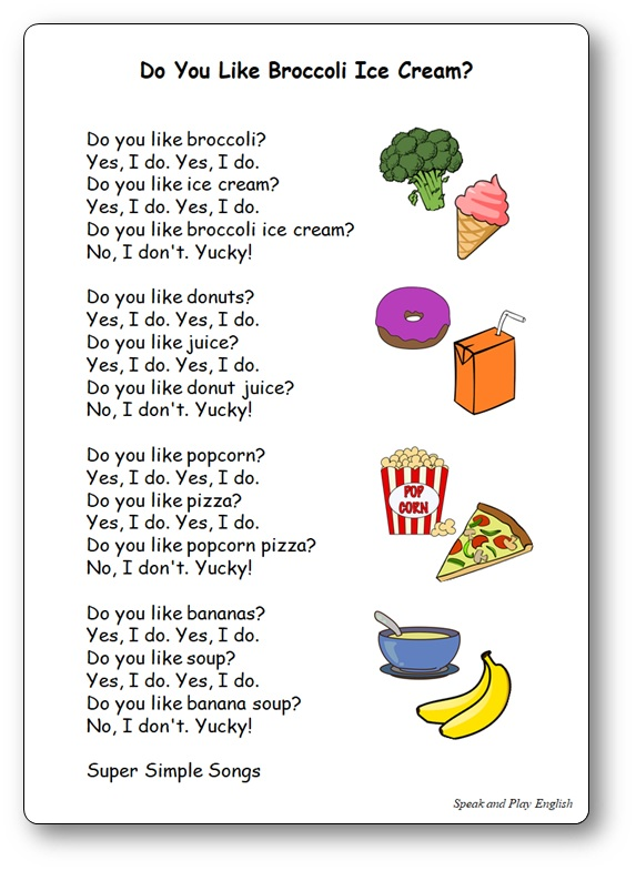 Do You Like Broccoli Ice Cream Lyrics Song
