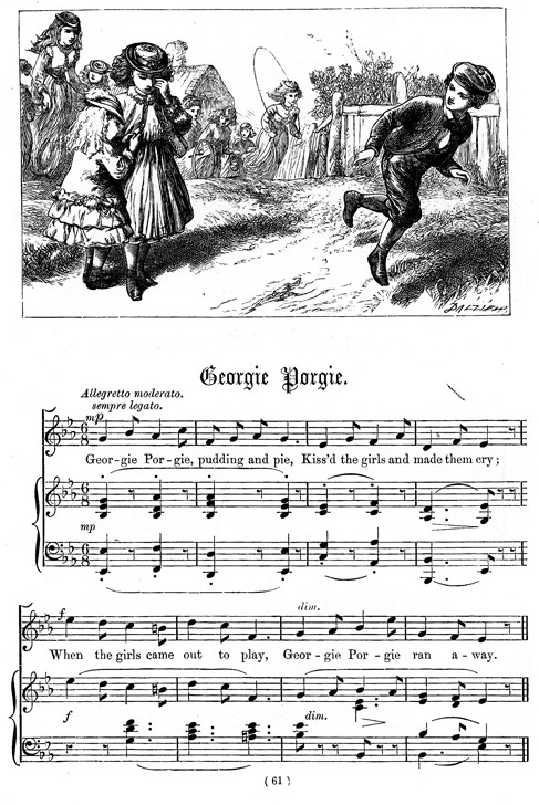 Georgie Porgie by Dalziel and Elliott, National Nursery Rhyme 1870