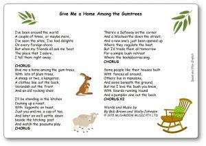 Give Me a Home Among the Gumtrees Lyrics Australian Song