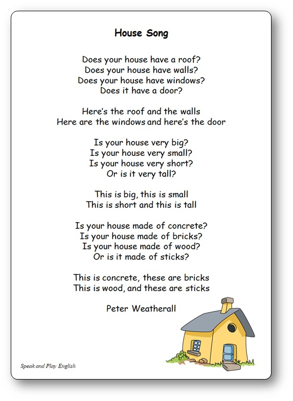 House Song Peter Weatherall Nursery Rhyme