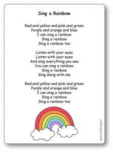 I Can Sing a Rainbow Original Lyrics Song