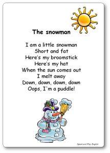 I'm a Little Snowman Short and Fat Lyrics