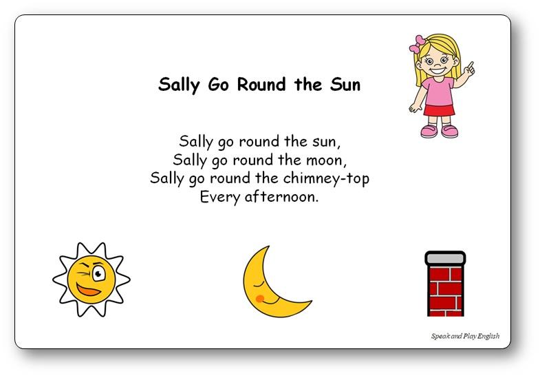 Sally Go Round The Sun Lyrics Nursery Rhyme French English